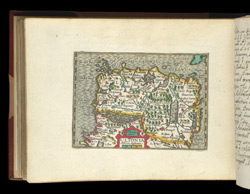 Map of Northern Ireland, from Atlas of the British Isles, Pieter Van Den Keere